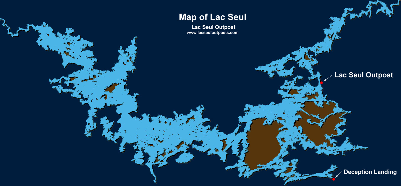 Map of lac seul for Lac seul fishing
