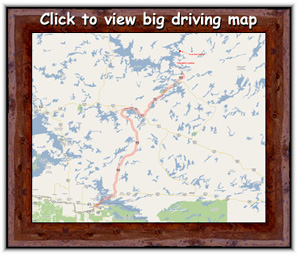 Click to view larger driving map from International Falls to Deception Landing